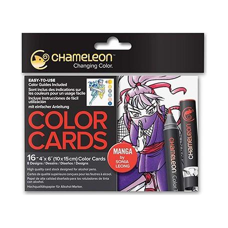 kolorowanki chameleon manga