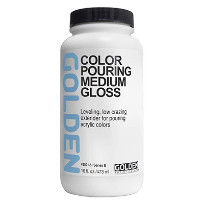 Color Pouring Medium Gloss, Golden 473 ml