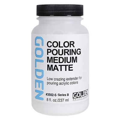 Color Pouring Medium Matte, Golden 237 ml