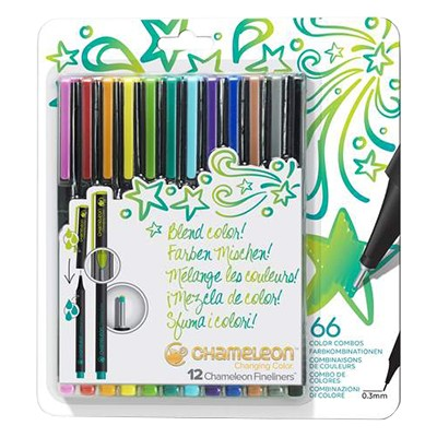 bright colors chameleon fineliners