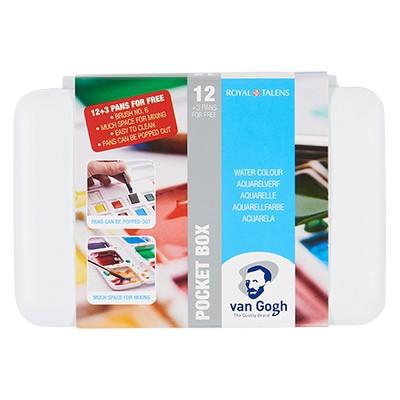 Talens Van Gogh, zestaw akwareli Pocket Box, 12+3 kol.