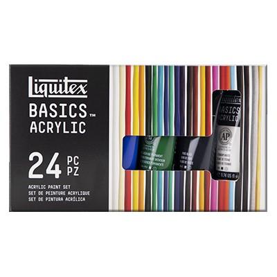 Farby akrylowe Liquitex, zestaw 24 kolorów