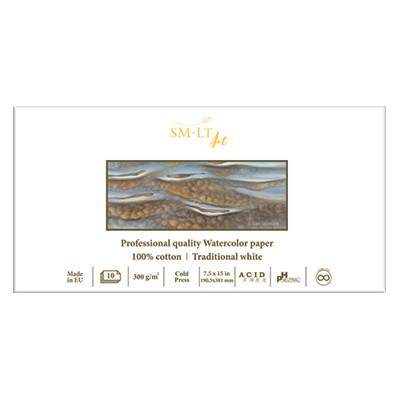 Blok akwarelowy 19 x 38 cm SMLT, 100% bawełna
