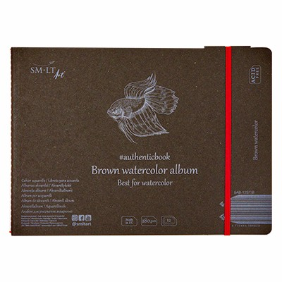 watercolour pad smlt brown