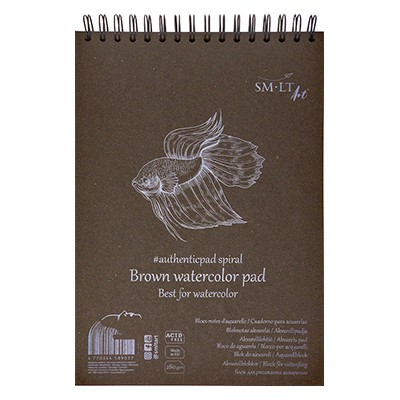 brown watercolour pad smlt