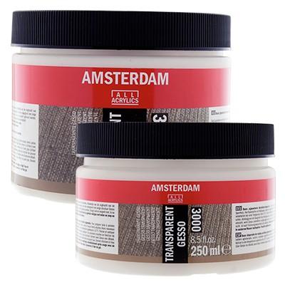 Gesso bezbarwne Amsterdam, przezroczyste gesso 250ml