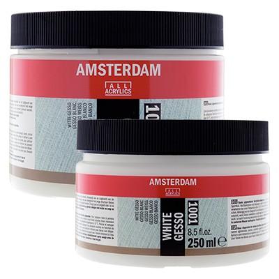 Gesso białe Amsterdam, white gesso 250ml