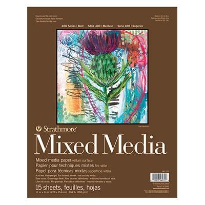 mixmedia white pad strathmore