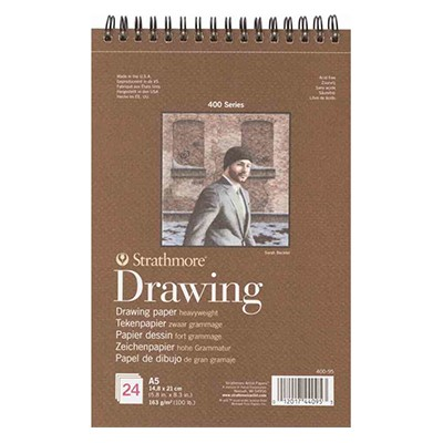 Szkicownik Drawing Strathmore, 24 ark. 163 g, A5