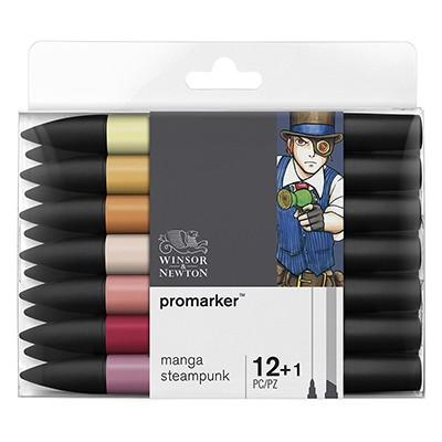Steampunk, zestaw pisaków Promarker W&N, 13 sztuk