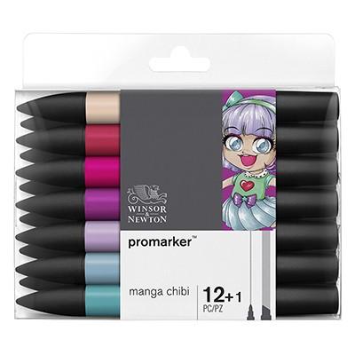 Manga Chibi, zestaw pisaków Promarker W&N, 13 sztuk