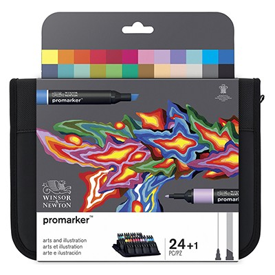 Arts and Illustration, zestaw pisaków Promarker W&N, 24 sztuki