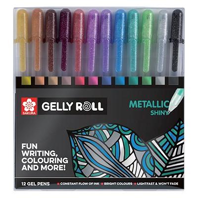 Metaliczne żelopisy Gelly Roll Metallic, 12 kol.