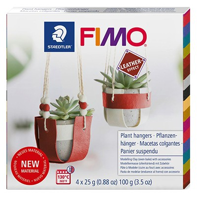 Fimo Leather Plant Hangers