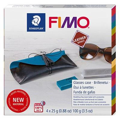 fimo leather glasses case