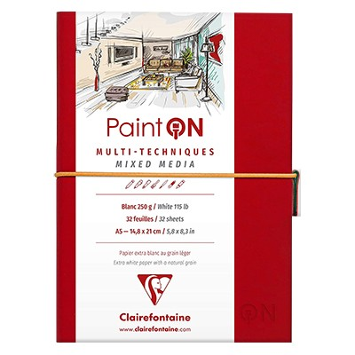 paint on white clairefontaine
