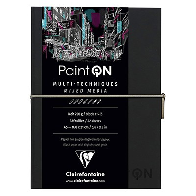 paint on noir clairefontaine