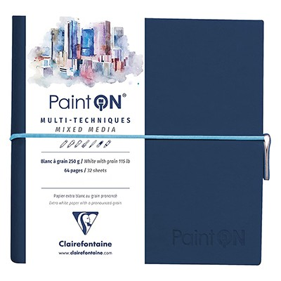 paint on a grain clairefontaine