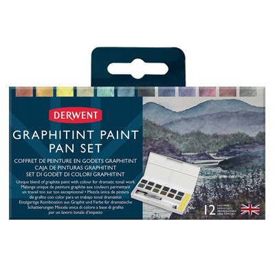 Graphitint Paint Pan set, Derwent, 12 kol.