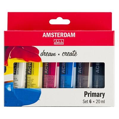 Farby akrylowe Talens Amsterdam, 6 x 20 ml