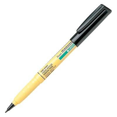 Czarny marker do tkanin, Pentel NM10
