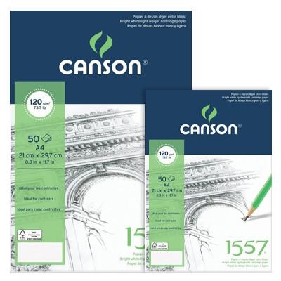 Szkicownik Canson 1557, 50 kartek A5, 120g