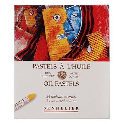Pastele olejne Sennelier, gama podstawowa, zestaw 24 kolory
