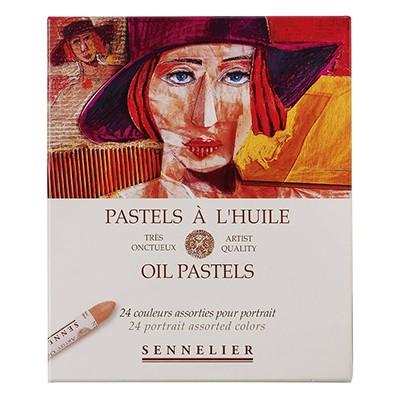 Pastele olejne Sennelier, gama portretowa, zestaw 24 kolory