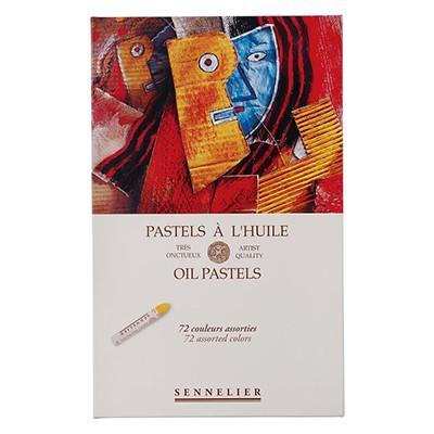 Pastele olejne Sennelier, zestaw 72 kolory