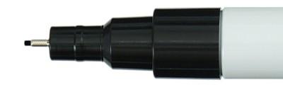 010 Black, pisak akrylowy Acrylista Kuretake
