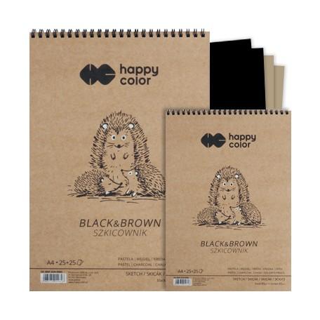 Czarno–szary szkicownik A4 Happy Color