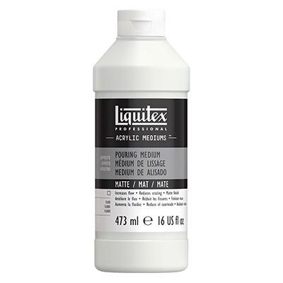 matte pouring medium liquitex