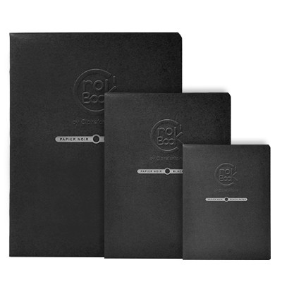 Szkicownik Crok' Book Black Clairefontaine, 20ark. 120g, A4