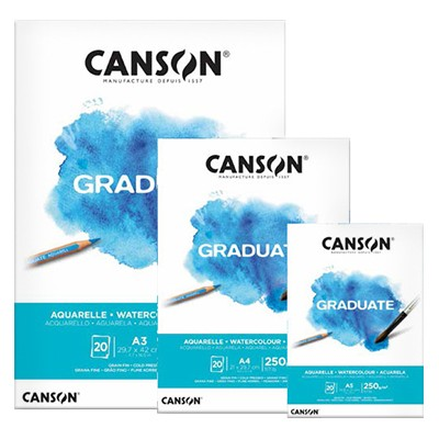 Blok akwarelowy Canson Graduate, 250g, A4