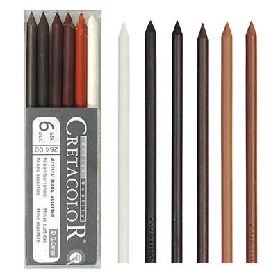 Wkłady do ołówka typu Kubuś, 6 x 5.6mm, kompozycja kolorów