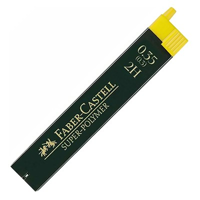 Wkłady grafitowe Faber-Castell Super-Polymer, 12 x 0.35mm (2H)