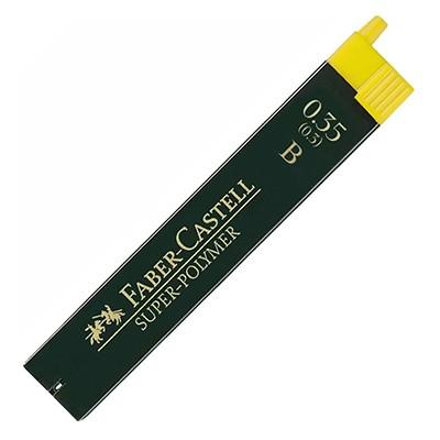 Wkłady grafitowe Faber-Castell Super-Polymer, 12 x 0.35mm (B)