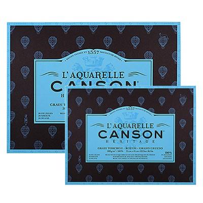 Gruboziarnisty blok do akwareli Canson Heritage, 31x41cm, 20ark