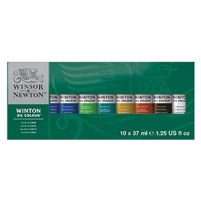 Farby olejne Winton, zestaw 10 x 37ml