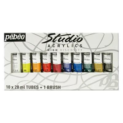 Farby akrylowe Studio Acrylics, Pebeo, 10x20ml
