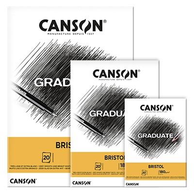 Blok Canson Graduate Bristol A3, 180 g, 20 ark.
