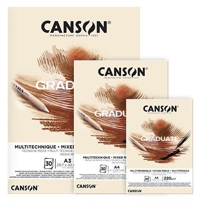 Blok Canson Graduate Grey A3