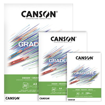 Blok Canson Graduate Drawing A5, 160 g, 30 ark.