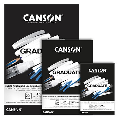 Blok Canson Graduate Black A3, 120 g, 20 ark.