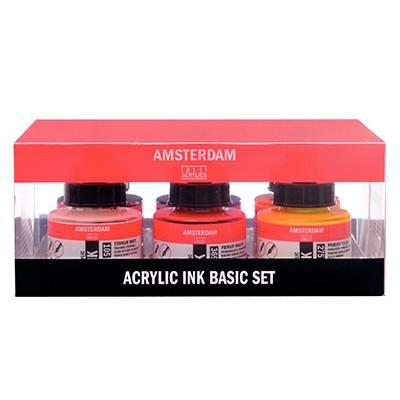 basic set acrylic ink talens