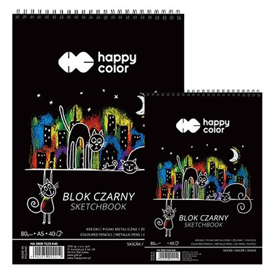 Blok z czarnym papierem Happy Color
