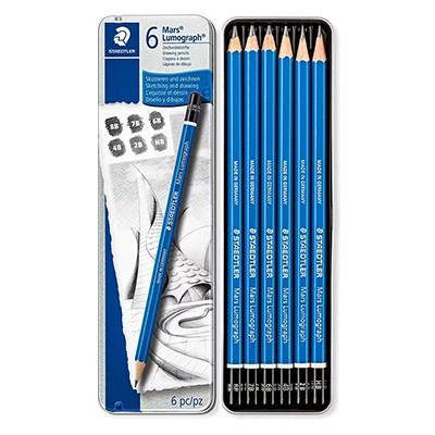 Zestaw ołówków Mars Lumograph Staedtler, 6 szt.