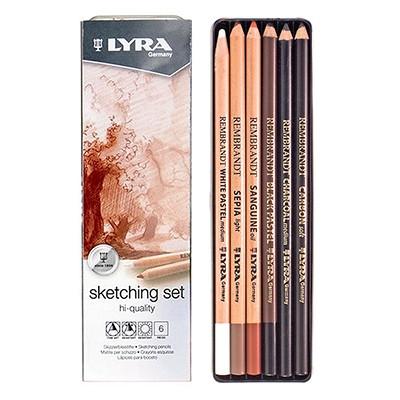 Ołówki rysunkowe Sketching Set Lyra, 6 szt.