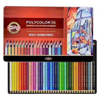 Kredki rysunkowe Polycolor, Koh-I-Noor, 36 kolorów