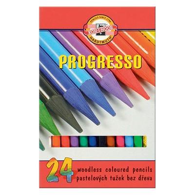 Bezdrzewne kredki rysunkowe Progresso, Koh-i-Noor, 24 kolory